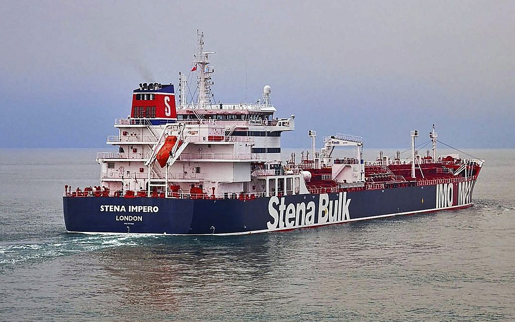 Britain says Iran has seized two oil tankers in the Strait