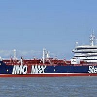 The British-flagged oil tanker Stena Impero at an unknown location on May 5, 2019 (Basil M. Karatzas, Karatzas Images via AP)