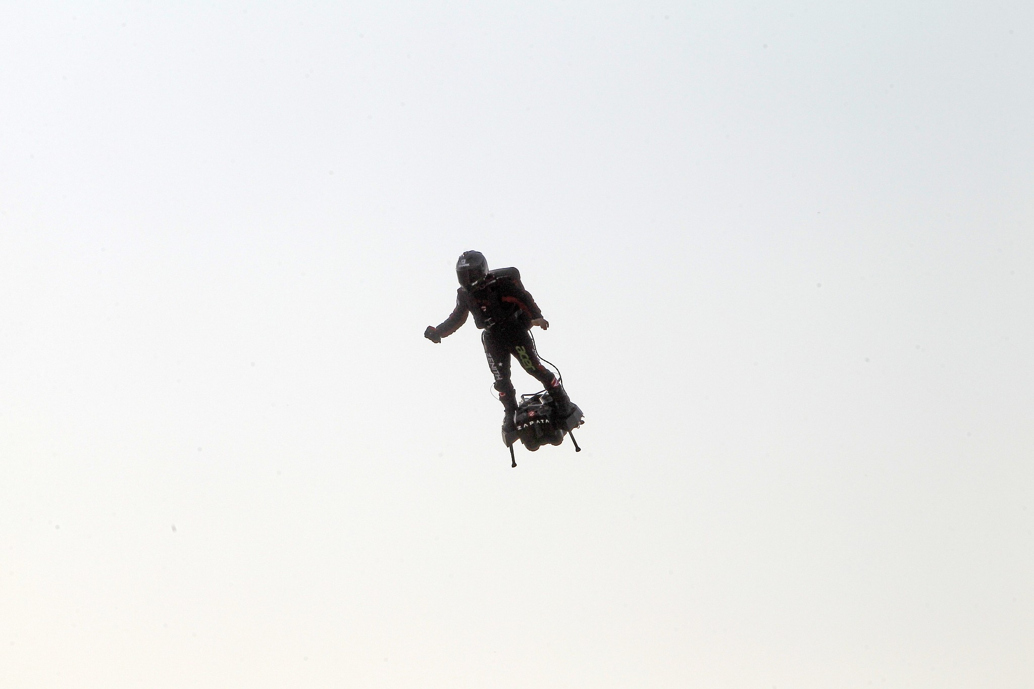 Attempt to fly hoverboard across English Channel fails