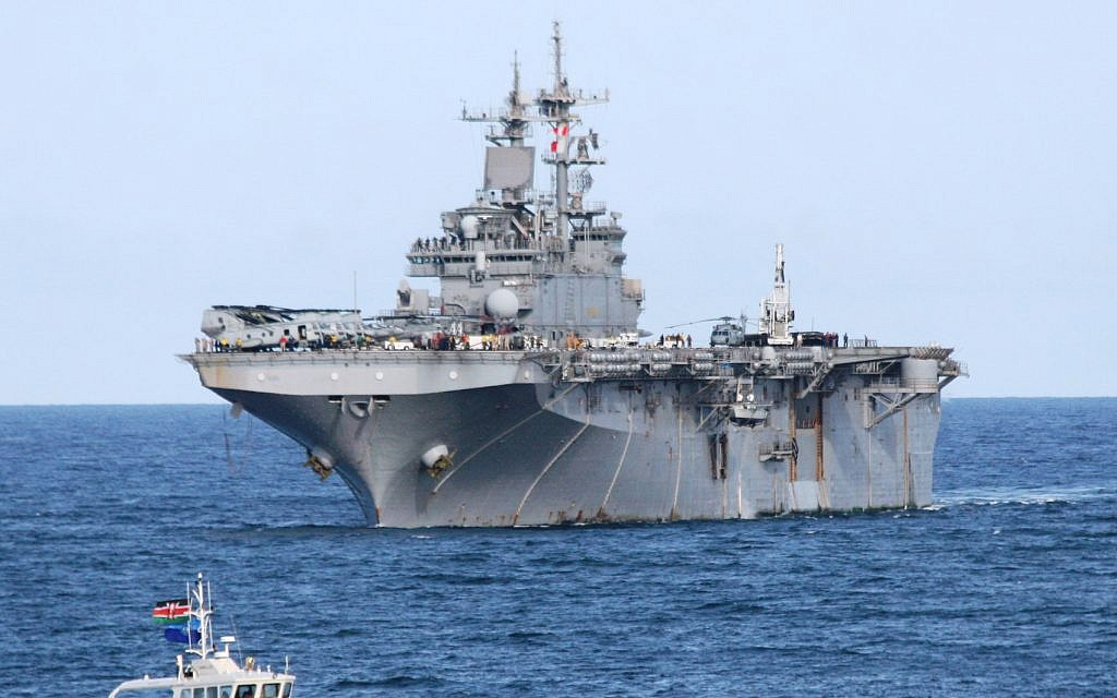 US warship shoots down Iranian drone in strategic Strait of Hormuz