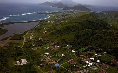 This Sept. 23, 2011 file photo, shows an aerial view of the Caribbean island of St. Kitts. (AP/Ramon Espinosa)