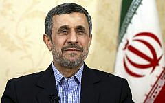 Former Iranian president Mahmoud Ahmadinejad, pictured at his office in Tehran, in April 2017. (AP Photo/Ebrahim Noroozi, File)