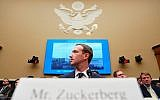 Facebook CEO Mark Zuckerberg testifies before a House Energy and Commerce hearing on Capitol Hill in Washington, April 11, 2018, about the use of Facebook data to target American voters in the 2016 election and data privacy. (AP Photo/Andrew Harnik)