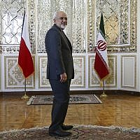 In this Sept. 6, 2015, file photo, Iranian Foreign Minister Mohammad Javad Zarif stands prior to a meeting in Tehran, Iran.  (AP/Vahid Salemi)