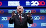 Democratic presidential candidate Sen. Bernie Sanders, an Independent of Vermont, speaks during the National Education Association Strong Public Schools Presidential Forum, July 5, 2019, in Houston. (AP Photo/David J. Phillip)