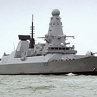A file photo of the HMS Duncan, a Type 45 Destroyer, which will relieve HMS Montrose in the Persian Gulf as Iran threatens to disrupt shipping (Ben Sutton/UK Ministry of Defence via AP)