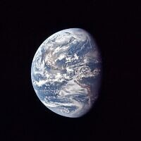 The Earth, as the Apollo 11 mission traveled towards the moon, July 17, 1969. (NASA via AP/File)