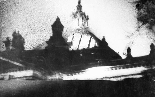 The Reichstag building is shown as it goes up in flames, February 27, 1933, in Berlin. (AP Photo)