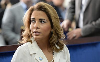 Princess Haya bint al-Hussein, wife of Sheikh Mohammed Bin Rashid Al Maktoum, the prime minister of the UAE and ruler of Dubai, in Dubai on Jan 17, 2016. (AP/Martin Dokoupil)