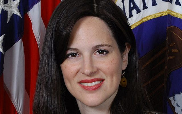 Anne Neuberger, an Orthodox Jew, was recently tapped to head the US National Security Agency's new Cybersecurity Directorate. (National Security Agency via JTA)