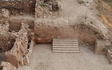 Stunning 8th century BCE staircase and paved entrance hall at Tel Hazor. (The Selz Foundation Hazor Excavations in Memory of Yigael Yadin)