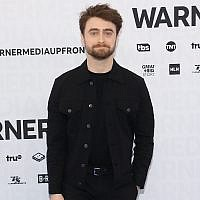 Daniel Radcliffe attends the 2019 WarnerMedia Upfront at One Penn Plaza in New York City, May 15, 2019 . (Taylor Hill/FilmMagic via JTA)