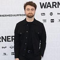 Daniel Radcliffe attends the 2019 WarnerMedia Upfront at One Penn Plaza in New York City, May 15, 2019 . (Taylor Hill/FilmMagic via JTA)