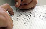 Illustrative image of Israeli high school student taking a mathematics paper, May 25 2010. (Yossi Zamir/Flash 90)