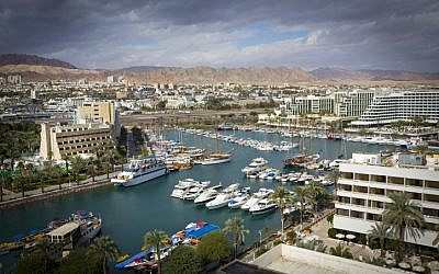 The marina in the southern Israeli city of Eilat. December 20, 2012. (Moshe Shai/FLASH90)