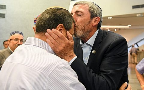 URWP chairman Rafi Peretz arrives at a gathering of the Jewish Home party in Ramat Gan on June 19, 2019. (Yehuda Haim/Flash90)