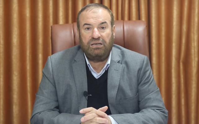 Senior Hamas official Fathi Hammad. (Screenshot: Youtube)
