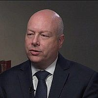 Screen capture from an interview with US Middle East Peace Envoy Jason Greenblatt with PBS News Hour, published July 17, 2019. (PBS)