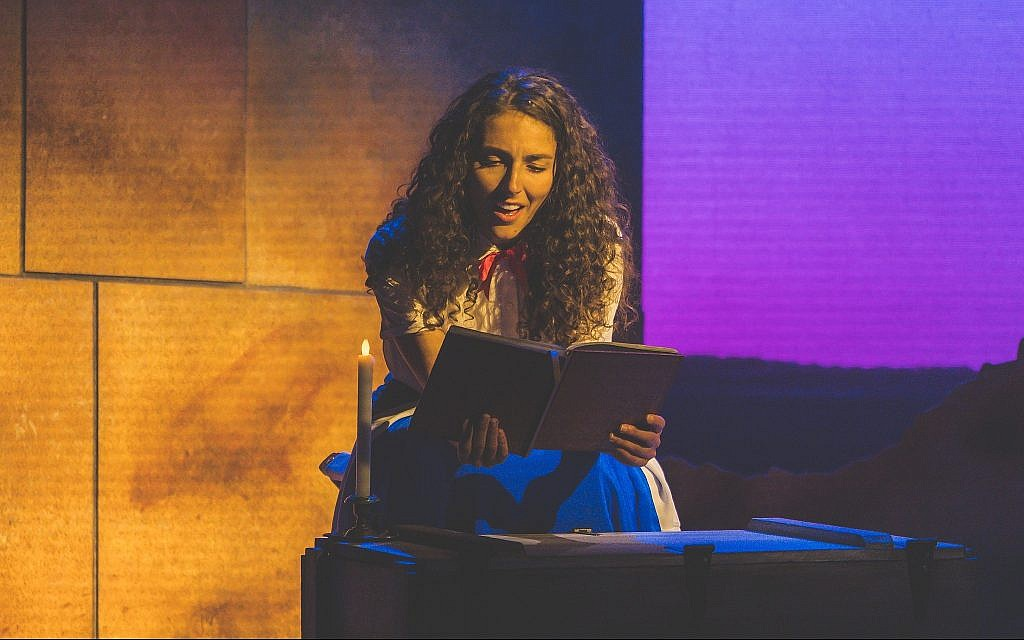 Lexi Rabadi stars in the National Yiddish Theater Folksbiene's one-woman show, 'Hannah Senesh (a play with music and song).' (Victor Nechay/Properpix.com)