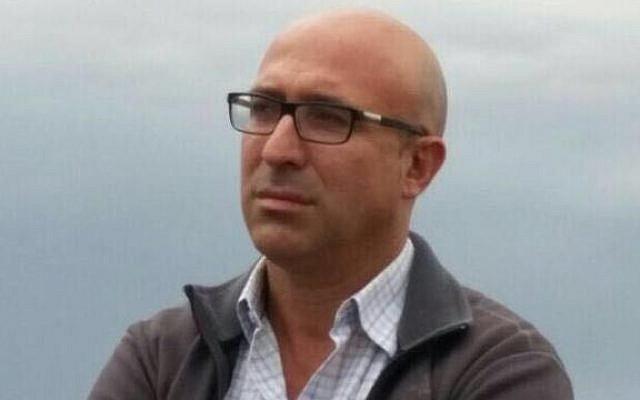 Former Defense Ministry adviser on settlement affairs Kobi Eliraz. (Courtesy)
