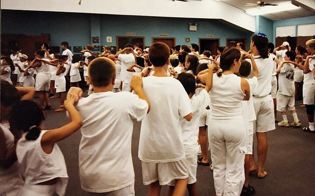 Illustrative image: Israeli dancing at the Union for Reform Judaism's Jacobs Camp in Utica, Mississippi, in 1999. (Amanda Borschel-Dan/Times of Israel)
