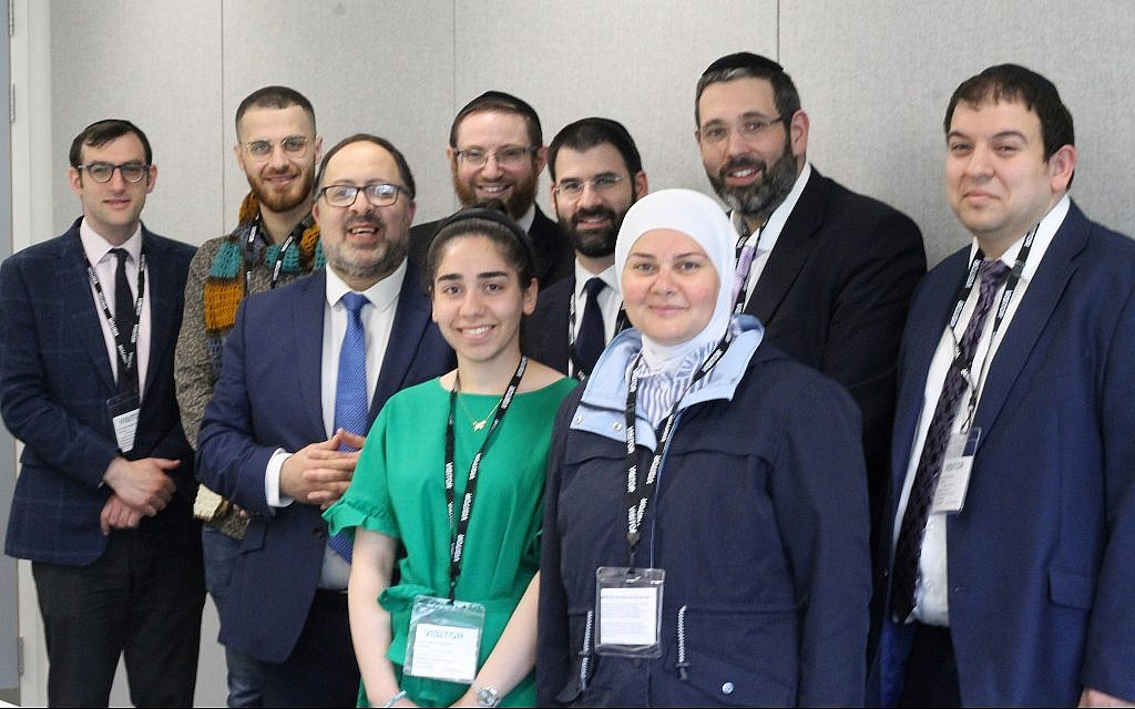 Six United Synagogue rabbis joined a STEP participant and her daughter, refugees who arrived in the UK last year, on a trip to Coventry. (Courtesy)