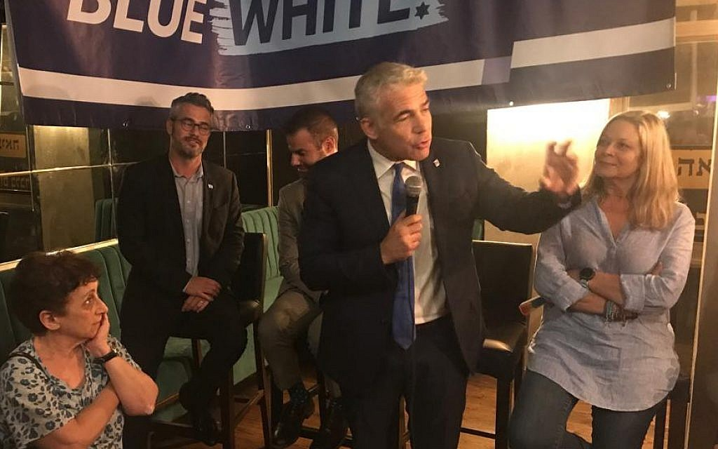 Touting 'democratic values,' Blue and White starts wooing