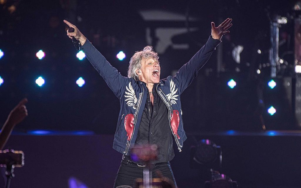 Jon Bon Jovi performs in Tel Aviv, July 25, 2019 (Courtesy Live Nation)