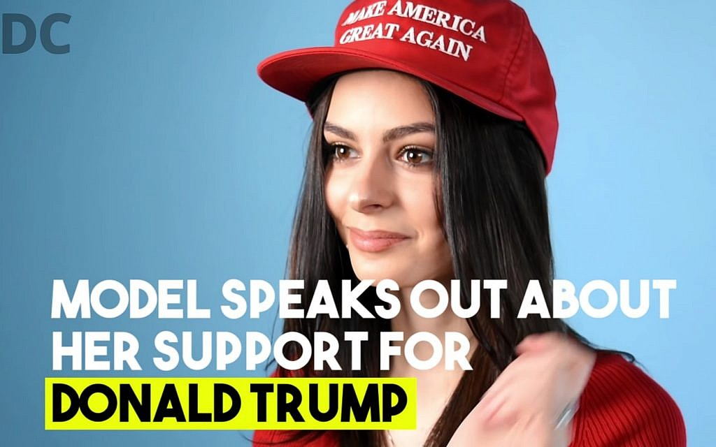 Elizabeth Pipko feared that her support of Donald Trump could negatively impact her modeling career. (Screenshot/YouTube)
