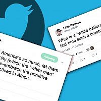 Elliot Resnick, the chief editor of The Jewish Press, has called African religions 'primitive' and questioned the existence of white nationalists. (Screenshots from Twitter)