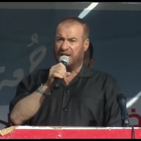 Senior Hamas official Fathi Hammad speaking to Palestinians in the border region between Israel and the Gaza Strip on July 12, 2019. (Screenshot:Youtube)