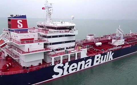 The Stena Impero tanker, seen in a promotional video released by Stena Bulk. (Screen capture: Stena AB)