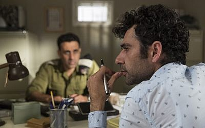 Kais Nashif, right, and Yaniv Biton in 'Tel Aviv on Fire.' (Courtesy Cohen Media Group)