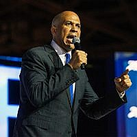 Democratic presidential candidate, Sen. Cory Booker, D- N.J., speaks at the 2019 Essence Festival, July 6, 2019, in New Orleans. (Amy Harris/Invision/AP)