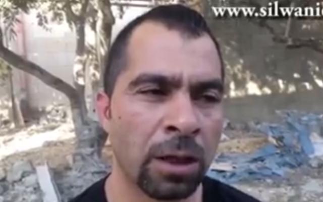 East Jerusalem-based lawyer Tarek Barghout. (Screenshot: Facebook)