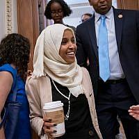 Rep. Ilhan Omar, D-Minn. at the Capitol in Washington, July 18, 2019. (AP Photo/J. Scott Applewhite)