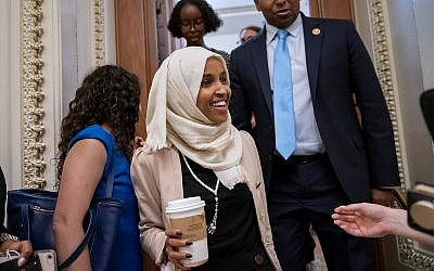 Rep. Ilhan Omar, D-Minn. at the Capitol in Washington, July 18, 2019. (AP Photo/J. Scott Applewhite)