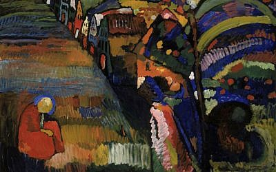 """Irma Klein sold """"Painting with Houses"""" by Wassily Kandinsky during the Holocaust. (Courtesy of the Stedelijk Museum in Amsterdam)"""