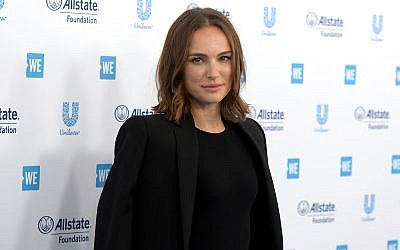 Natalie Portman in Inglewood, Calif, April 25, 2019. (Richard Shotwell/Invision/AP)