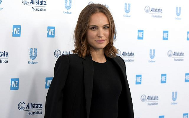 Natalie Portman in Inglewood, Calif, April 25, 2019. (Richard Shotwell/Invision/AP)