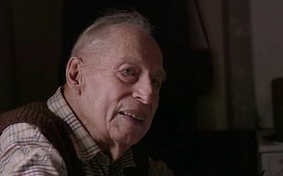 Former Nazi SS soldier Karl Muenter, convicted of killing 86 civilians in France during World War II, is interviewed by the German broadcaster ARD. (YouTube screenshot)