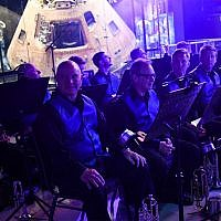 The Brass Band of Huntsville is seen during the Apollo 11 Homecoming Celebration Dinner and Program at the Davidson Center for Space Exploration on July 16, 2019, at the US Space & Rocket Center in Huntsville, Alabama. (LOREN ELLIOTT/AFP)