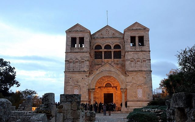 The Basilica of the Transfiguration, a Franciscan church located on Mount Tabor, December 31, 2016. (Yossi Zamir/Flash90)