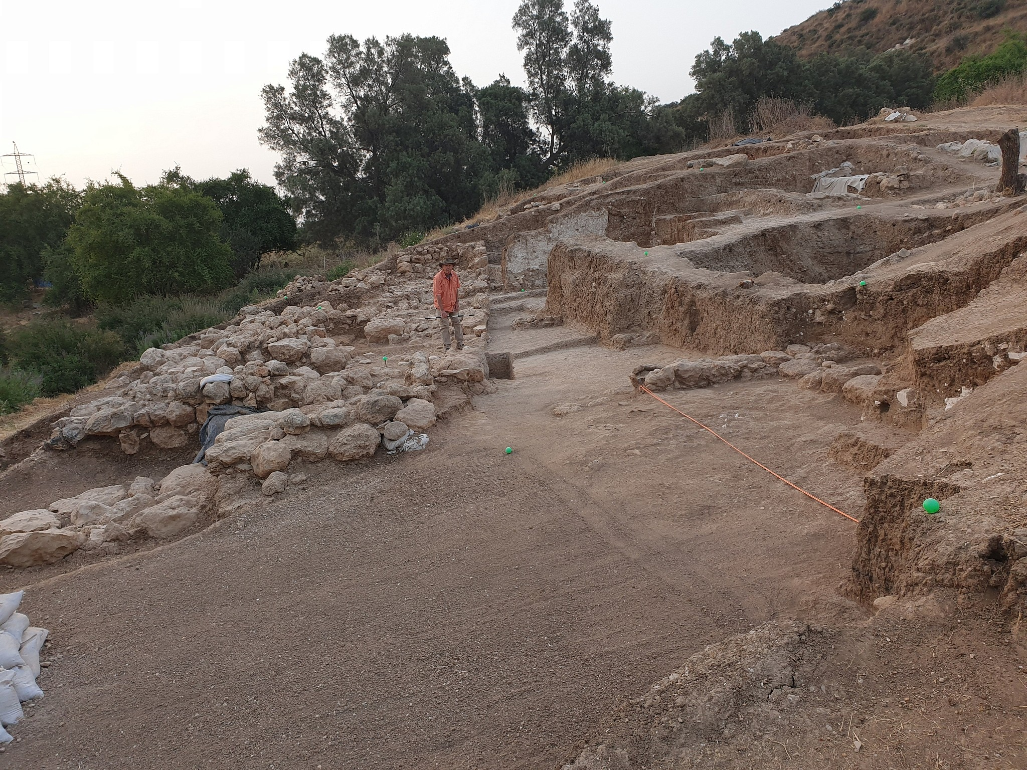 View of the Water Gate at Gath, summer 2019 (Aren Maeir/Tell es-Safi/Gath Archaeological Project)