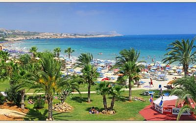 The resort town of Ayia Napa in southeastern Cyprus. (Wikipedia/Vitaly Lischenko/CC BY-SA)