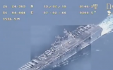 Footage Iran says was taken by one of its drones after the US claimed to have brought it down in the Strait of Hormuz, July 19, 2019 (video screenshot)