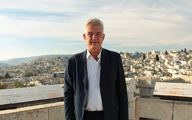 Christian Clages, head of the German mission to the Palestinian territories. in a video shot in Ramallah. (Screen capture, ramallah.diplo.de)