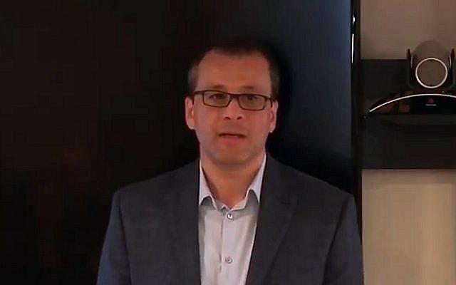 Cornel Feruta, the interim IAEA chief, in 2017 (screenshot: YouTube)