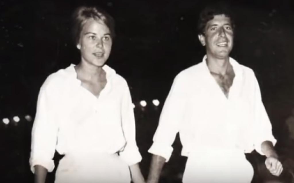 Marianne Ihlen and Leonard Cohen seen in the documentary 'Marianne & Leonard: Words of Love' (YouTube screenshot)