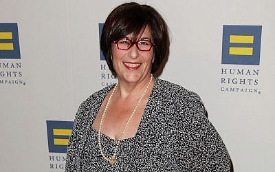 Rabbi Denise L. Eger at the 2011 Human Rights Campaign gala in Los Angeles, where she was honored, March 12, 2011. (Brian To/FilmMagic/Getty Images via JTA)